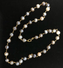 "Load image into Gallery viewer, 26"" Beautiful Mystic Gray agate rosary chain necklace!!!"