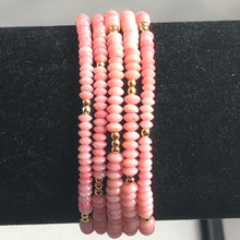 Load image into Gallery viewer, Gorgeous delicate coral stretch bracelet