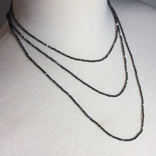 "Load image into Gallery viewer, Brilliant Faceted Terahertz 60"" Infinity Necklace"