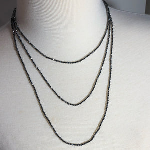 "Brilliant Faceted Terahertz 60"" Infinity Necklace"