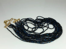Load image into Gallery viewer, Exceptional Mystic Coated Black Spinel 7 Strand Statement Necklace