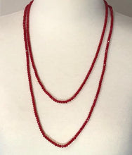 Load image into Gallery viewer, Brilliant Red Crystal Transformer Necklace/Bracelet with Magnetic Clasp; 52""
