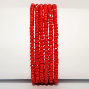 Brilliant Red Crystal Transformer Necklace/Bracelet with Magnetic Clasp; 52""