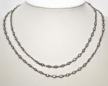 Load image into Gallery viewer, Sparkling Bezel Set cubic zirconia Chain; Double Lobster Clasp- 36""
