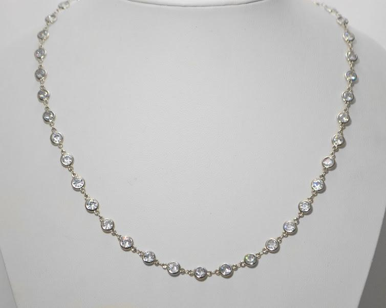 Rhodium Plated Large (1/4