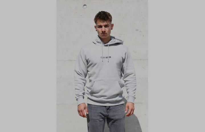 L'OMBRE Blanche Heather Grey Hoodie - L'OMBRE Blanche