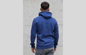 L'OMBRE Blanche Heather Snow Blue Hoodie - L'OMBRE Blanche