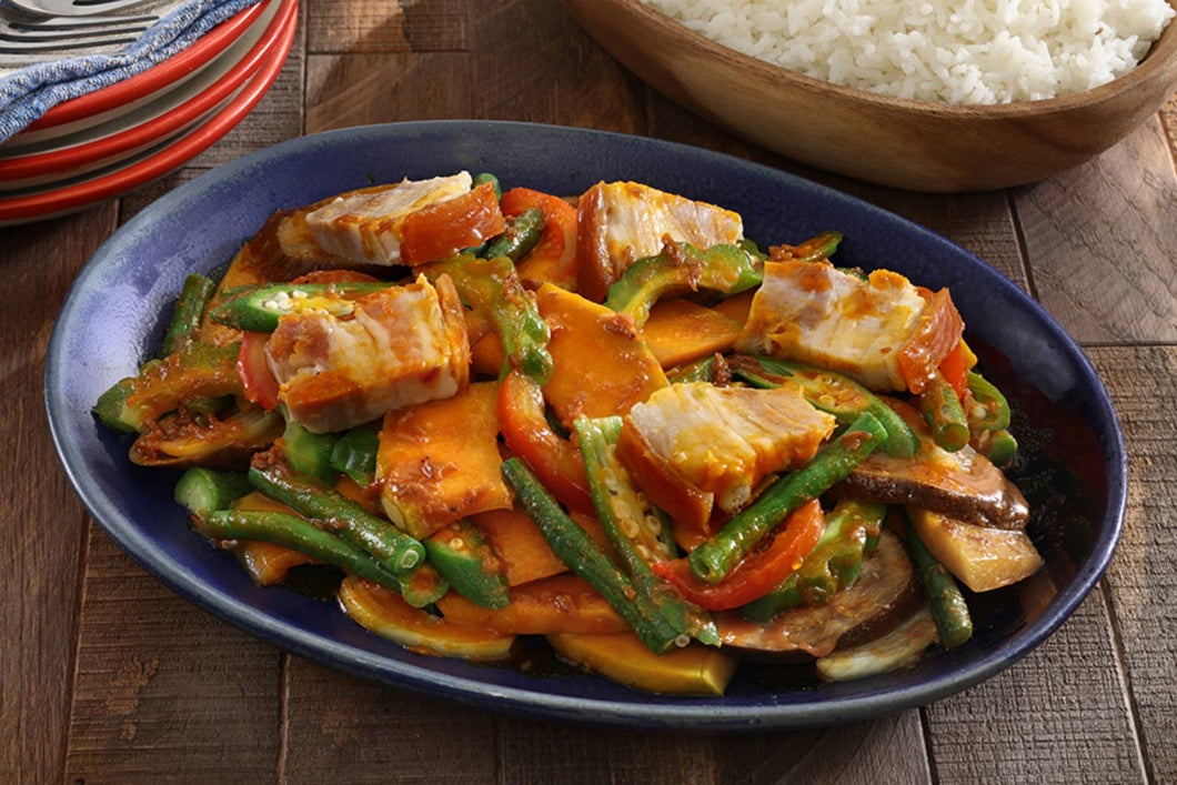 Pinakbet with Lechon Belly Chunks