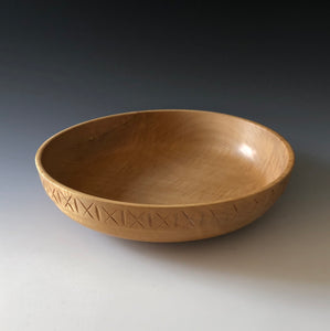 HAND-CARVED SILVER MAPLE BOWL