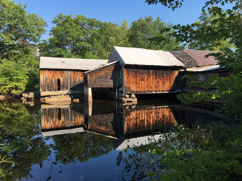 OLD SAW MILL IN WEST NEWFIELD, MAINE