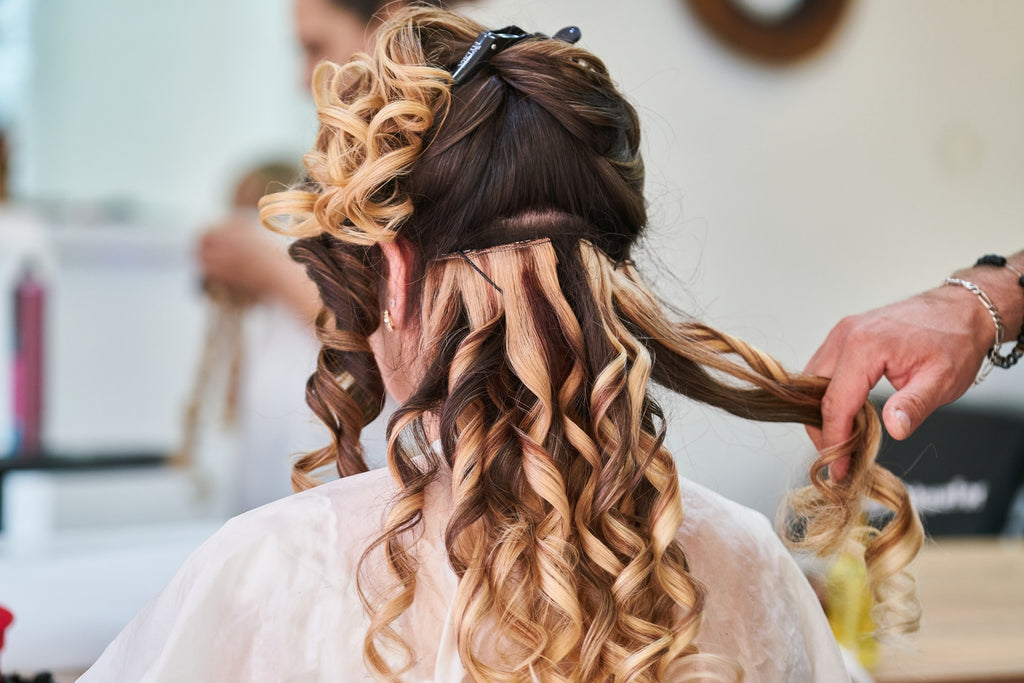 photo of woman's hairstyle curly hair