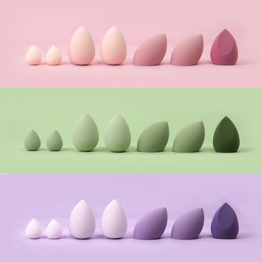 7PCS BEAUTY BLENDER SET W/ BOTTLE