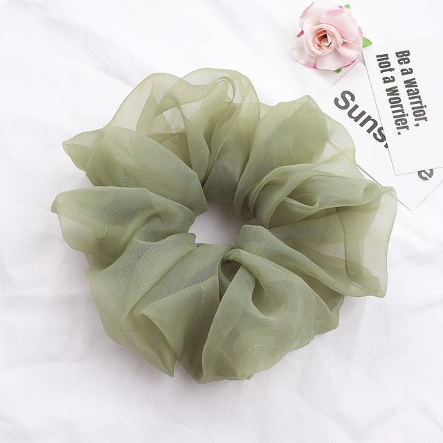 CHIFFON ELASTIC PONYTAIL HOLDER
