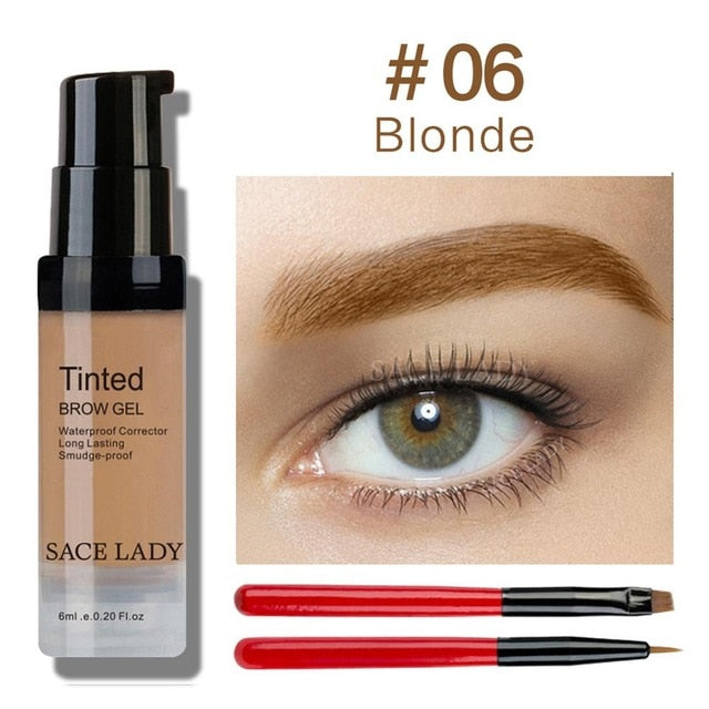 SACE LADY Eyebrow Dye Gel Waterproof Makeup Shadow For Eye Brow Wax Long Lasting Tint Shade Make Up Paint Pomade Cosmetic