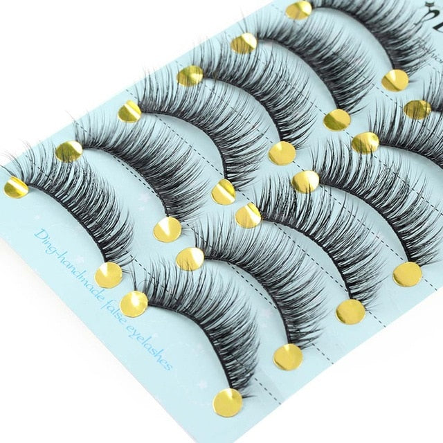 set of faux mink false eyelashes