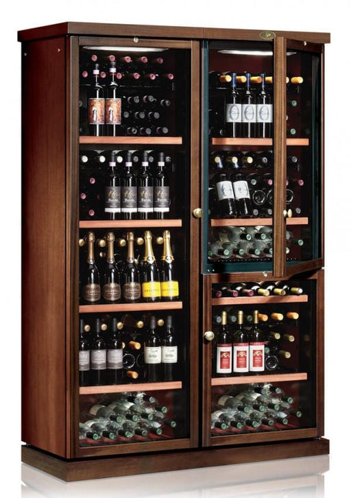 Ip Industrie - Tall Freestanding Wooden 272 Bottle Wine Cooler Dual Temperature Zone CEXPK 501