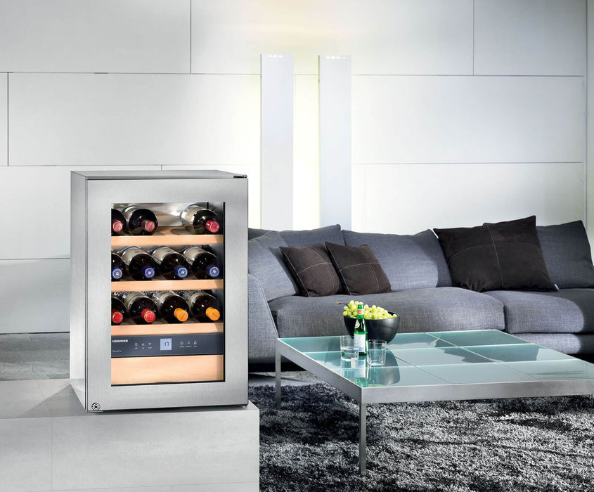 Liebherr WKes 653 - 12 Bottle Freestanding Stainless Steel Grand Cru Wine Cooler