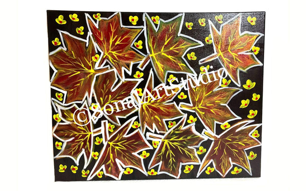 Abstract Maple Leaves - SonalArtStudio