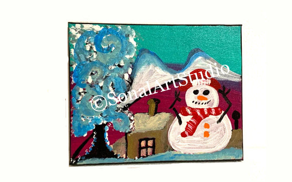 Happy Snowman - SonalArtStudio