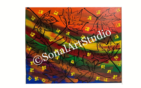 Autumn Maple Leaves - SonalArtStudio
