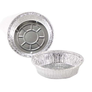 "Chef Elite - Round Aluminum Containers (500 units) - 7"" dia. - 25 Gauge"
