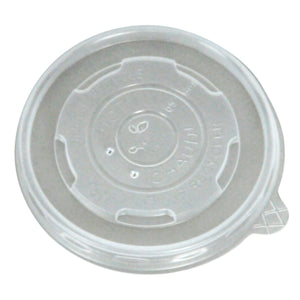8 OZ COMPOSTABLE PLA SOUP BOWL/HOT CUP LIDS - 1000 units