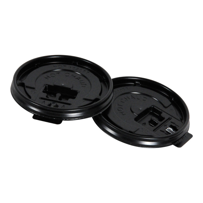 90MM BLACK TEAR TAB HOT LIDS - 1000 units