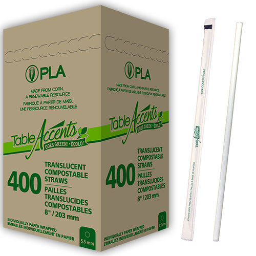 Compostable Wrapped PLA Straws (2400 units) - 8
