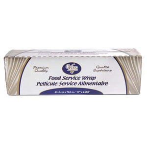"PVC Food Film - 17"" x 2500' - 39 Gauge - Metal Cutter"