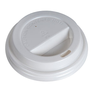 80mm White Dome Hot Lids - 1000 Pcs