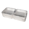 8x8 Bagasse Clamshell - 1 sleeve/200, 1 sleeve/50