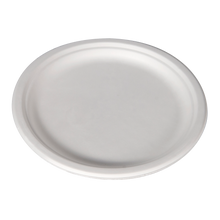 "Load image into Gallery viewer, 9"" Bagasse Plates - 500 Pcs"