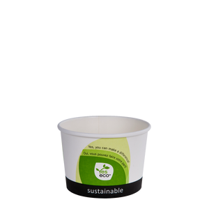 8oz Compostable Soup Bowls - 1000 Pcs