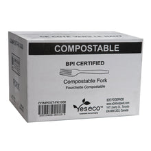 Load image into Gallery viewer, BPI CERTIFIED COMPOSTABLE FORK - 1000 units