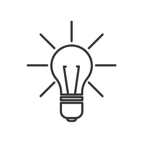 Outline of a Light Bulb to Depict Innovation
