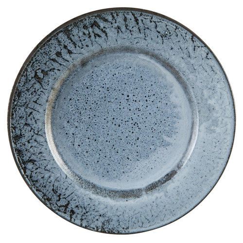 Aura by Porcelite. Glacier Rimmed Plate 10.5'' / Medium