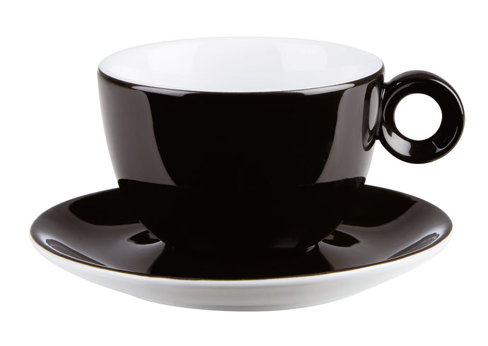 Costa Verde Cafe. Black Saucer for Bowl Shaped Cup