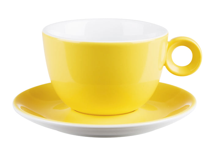 Costa Verde Cafe. Yellow Saucer for Bowl Shaped Cup