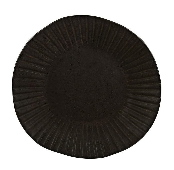 Rustico Stoneware Impressions. Flint Dinner Plate