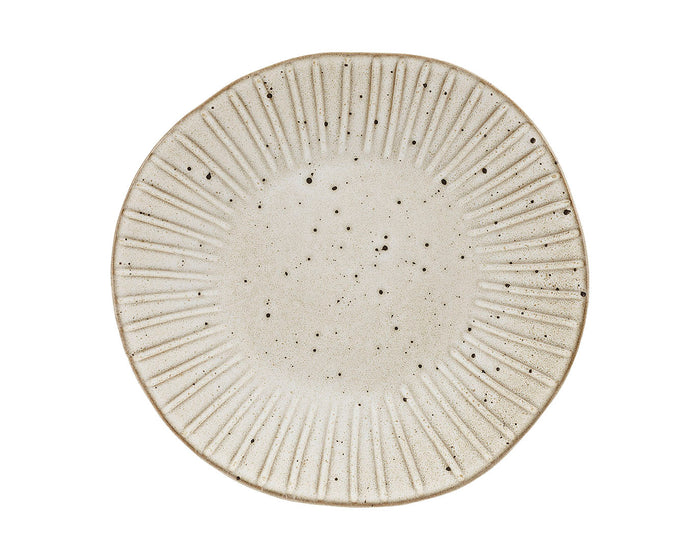 Rustico Stoneware Impressions. Oyster Dinner Plate