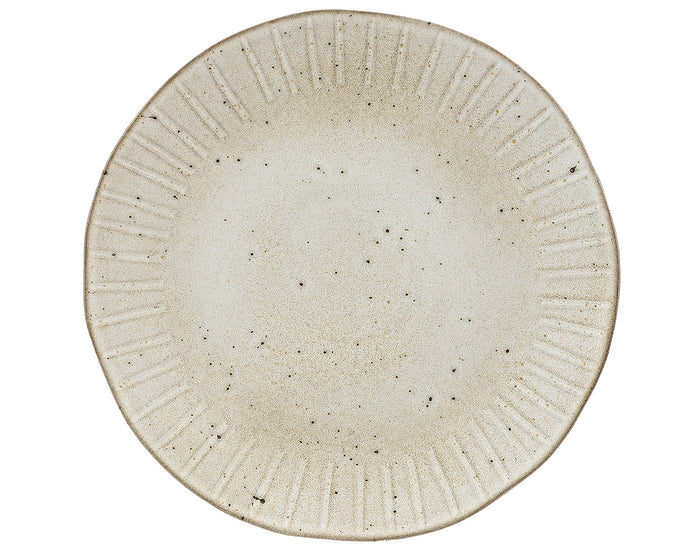 Rustico Stoneware Impressions. Oyster Charger Plate