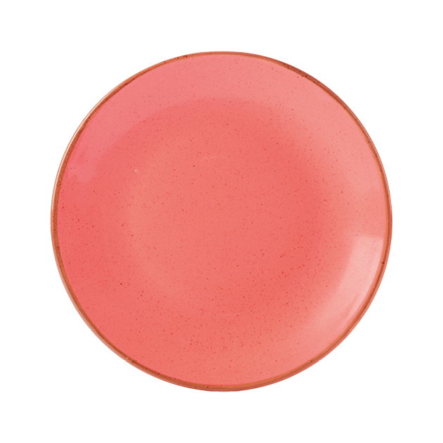 Seasons by Porcelite. Coral Coupe Plate, 11