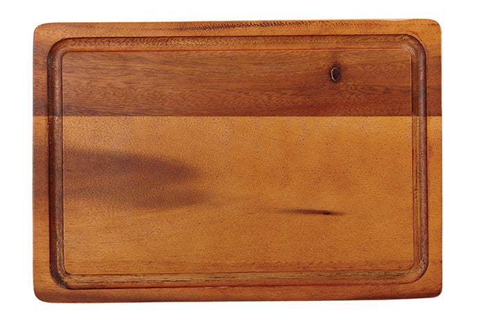 Acacia Rectangular Board with Groove (Medium)