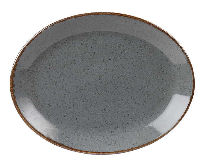 Seasons by Porcelite. Storm Oval Plate