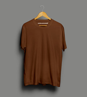 Coffee Brown Plain | T-Shirts