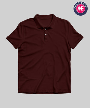 Maroon Plain | Polo T-Shirt
