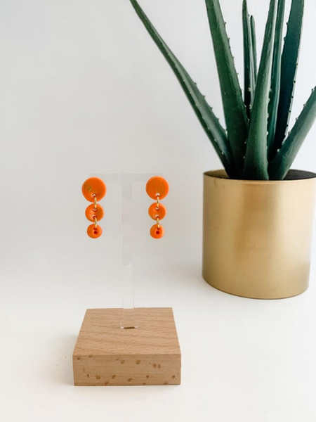 Button Dangle Earring
