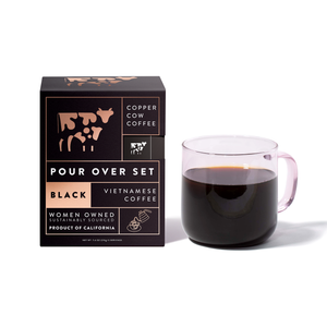 Straight Up Black Pour Over Coffee