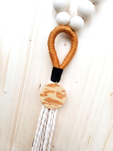 Gold Door Tassel with Clay Charm