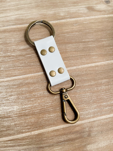 Genuine Leather Keychain Solid